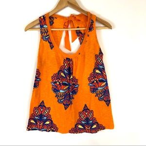 Anthropologie   Akemi + Kin Orange Tie Back Top